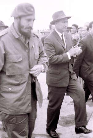 castro: Fidel Castro and Sharaf Rashidov in Yangiyer, Uzbekistan, May 10, 1963 Editorial
