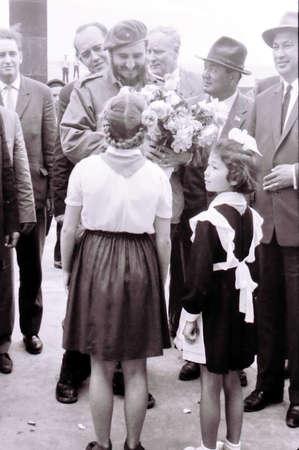 international crisis: Pioneer girls meet Fidel in Yangiyer, Uzbekistan, May 11, 1963 Editorial