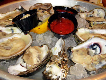 Oyster dish in Cambridge Maryland on bank of Chesapeake Bay, 5 May 2016 USA