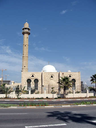 Hasan-bey Mosque in Tel Aviv, Israel, November 12, 2009 Stock Photo