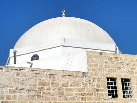 etymology: The dome of Mahmoudiya Mosque in old city Jaffa, Israel, October 11, 2010