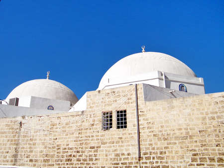 The domes of Mahmoudiya Mosque in old city Jaffa, Israel, October 11, 2010