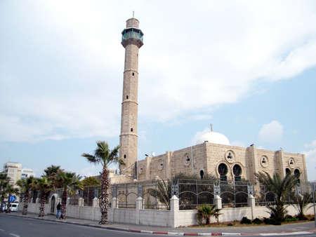 aviv: Minaret of Hasan-bey Mosque in Tel Aviv, Israel, Febuary 14, 2011