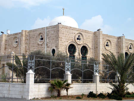 etymology: The dome of Hasan-bey Mosque in Tel Aviv, Israel, Febuary 14, 2011