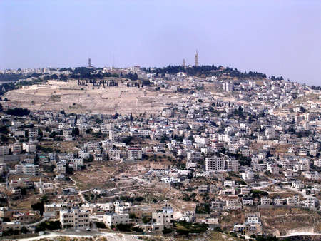 jewish town: The view of the Mount of Olives in Jerusalem, Israel, May 16, 2005