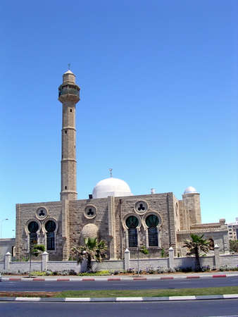 Hasan-bey Mosque in Tel Aviv, Israel, April 22, 2004