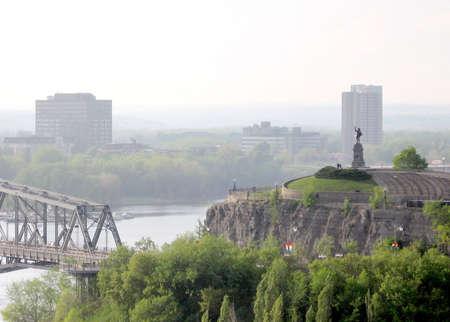 samuel: View of Samuel de Champlain statue in Ottawa, Canada, May 18, 2008