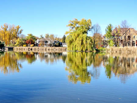thornhill: Pond in Thornhill, Canada, November 6, 2016