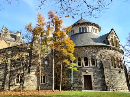 Autumn trees near Croft Chapter  Hous in the University of Toronto in Toronto, Canada, November 18, 2016 Editöryel