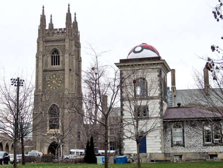 magnetic stones: Observatory and Soldiers Tower in the University of Toronto, in Toronto, Canada, December 6, 2016