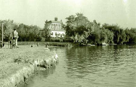 View of Park-Lake in Tashkent, Uzbekistan, 1965 Фото со стока - 68173860
