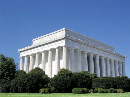 lincoln memorial:  Lincoln National Memorial in Washington, USA, October 7, 2004