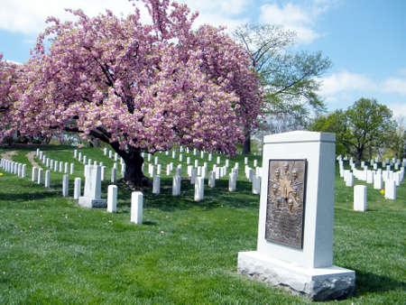 propulsion: Challenger Memorial on the Arlington National Cemetery in Arlington, USA, April 9, 2010