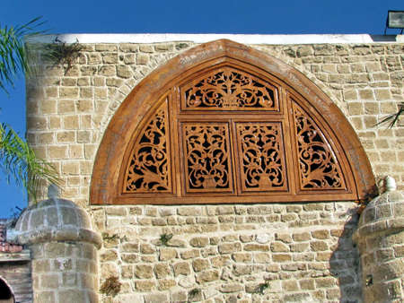 Detail of Mahmoudiya Mosque in old city Jaffa, Israel, November 9, 2011