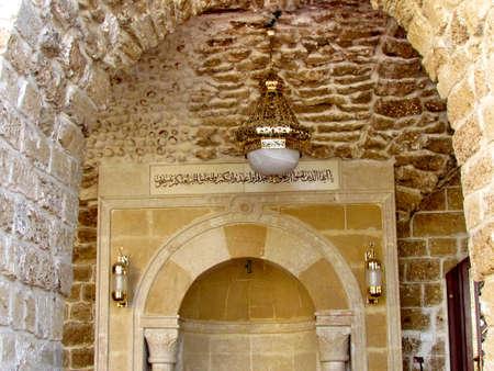 tel: Interior of Mahmoudiya Mosque in old city Jaffa, Israel, November 9, 2011