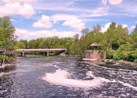 rideau canal: Bridge on the Rideau Canal in Manotick, Canada, May 18, 2008 Stock Photo