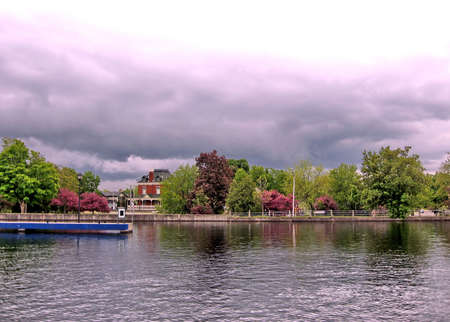 rideau canal: Rideau Canal in Smiths Falls, Canada, May 18, 2008 Stock Photo
