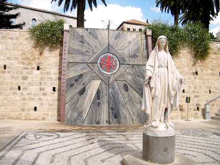 Sculpture of Madonna in Basilica of the Annunciation in Nazareth, Israel