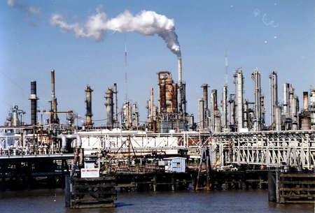 Industrial Sector on a coast of the Mississippi river in New Orleans, USA, March, 2002 Stock Photo - 80294481