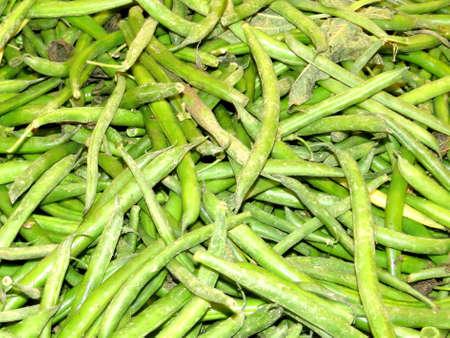 long bean: Green beans on market in Markham, Canada, July 22, 2017