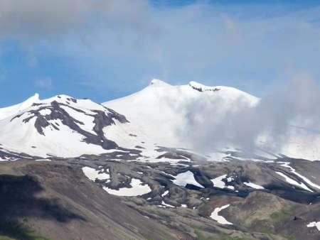 Landscape of Snaefellsjokull volcano in western Iceland, July 7, 2017