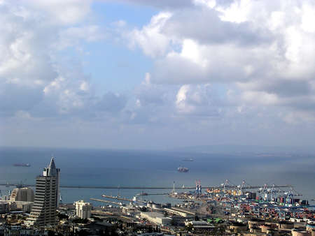 View of part of the city near the sea in Haifa, Israel , July 1, 2005