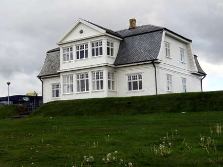 View of Hofdi House one of the most historically significant buildings in Reykjavik, Iceland. July 4, 2017 Editorial