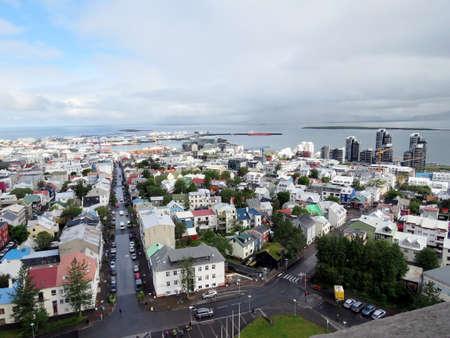 View of the capital city Reykjavik, Iceland, July 4, 2017 Stock fotó