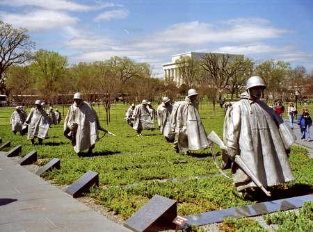 The Korean War Veterans Memorial in Washington DC, USA, April 5, 1999 Editorial