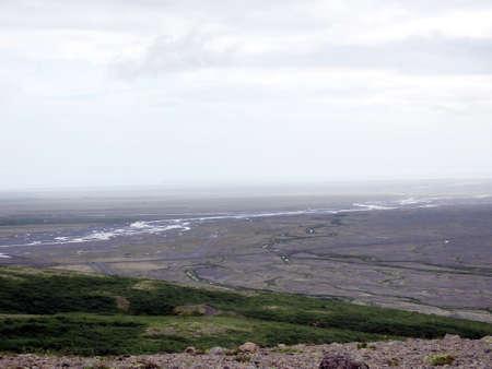 Landscape of Hvannadalshnukur in South Iceland.