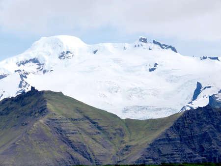 Hvannadalshnukur mountain in South Iceland, July 7, 2017