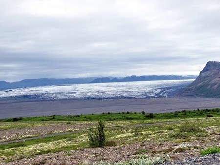 The landscape of Hvannadalshnukur in South Iceland, July 7, 2017