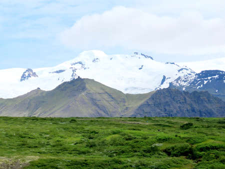 The Hvannadalshnukur mountain in South Iceland, July 7, 2017