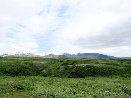 The view of Hvannadalshnukur in South Iceland, July 7, 2017 Stock fotó