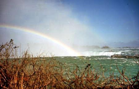 Rainbow over the  Niagara Falls