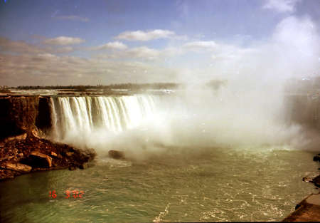 The view of the Canadian Falls in Niagara Falls, Canada, March 16, 2002