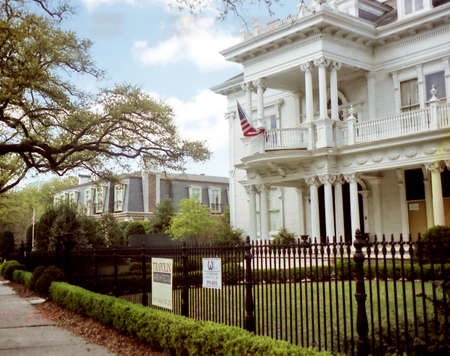 The beautiful house in New Orleans, USA, March 25, 2002