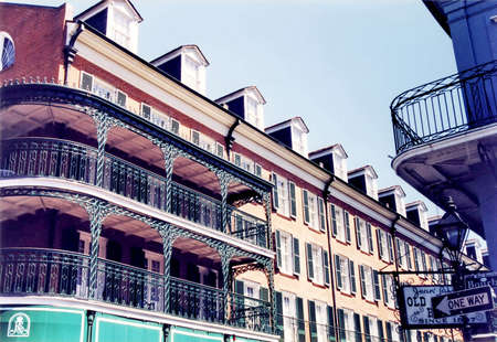 Old balconies in New Orleans, USA, March 24, 2002