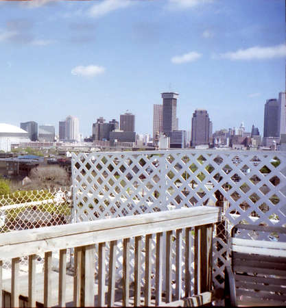 The panorama of New Orleans, USA, March 26, 2002