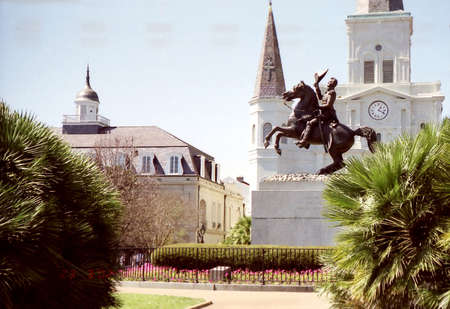 The Saint Louis Cathedral in New Orleans, USA, March 24, 2002 Stock fotó