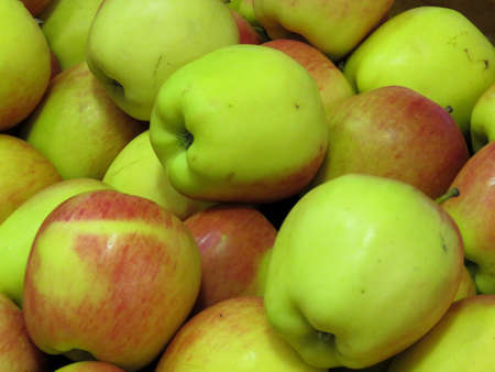 Apples on market in Thornhill, Canada, March 26, 2018                                Stock fotó