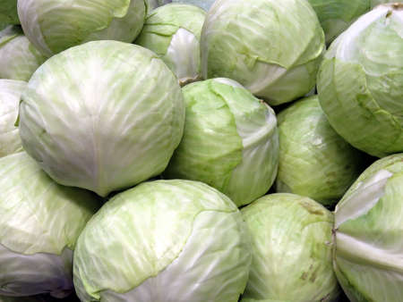 Cabbages in market