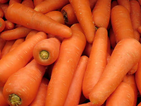 Carrots on market in Thornhill, Canada, March 26, 2018