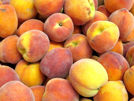Peaches on market in Thornhill, Canada, March 26, 2018
