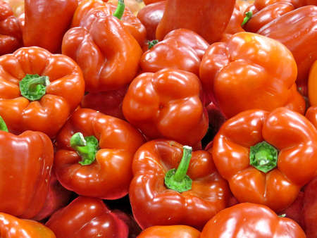 Red pepper on market in Thornhill, Canada, March 26, 2018