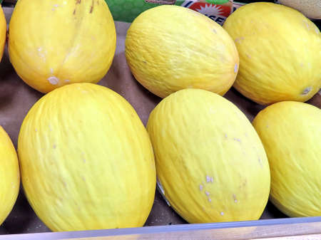Canary melons on market in Thornhill, Canada, May 4, 2018