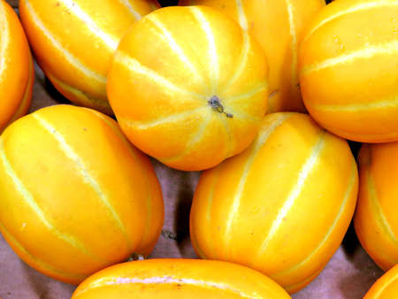 Korean melons on market in Thornhill, Canada, May 4, 2018