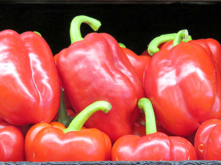 Red pepper on market in Thornhill, Canada Stock fotó