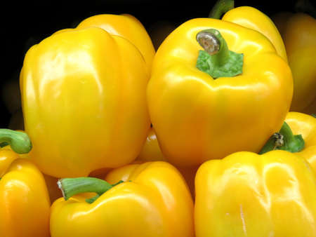 Yellow pepper on market in Thornhill, Canada, May 6, 2018 Stock fotó