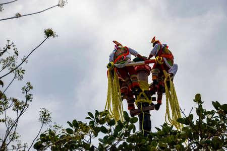 Flying people of Maya Stock Photo